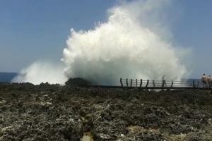 Bali Tour Guide wave splash