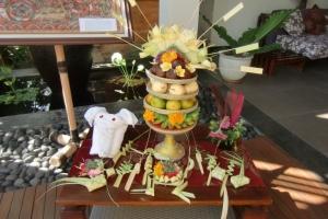 Bali traditional offering basket