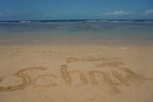 Bali writing sand