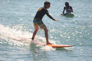 Bali Kuta beach surfing