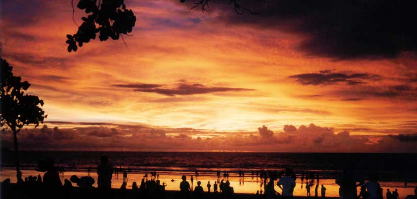 sunset in kuta in bali